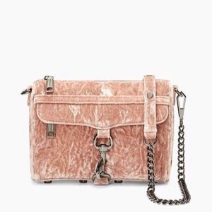 ❤️Rebecca Minkoff velvet mini MAC rose crossbody